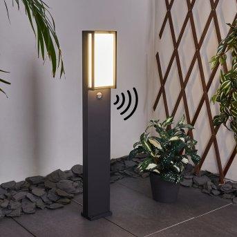 Skove Lampioncino Segnapasso LED Antracite, 1-Luce, Sensori di movimento