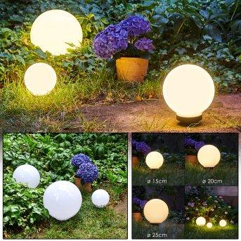 Campinas sfere luminose LED Nero, Bianco, 1-Luce