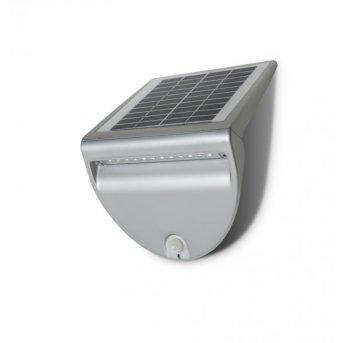 Lutec SOLO Applique per esterno LED Argento, 1-Luce, Sensori di movimento