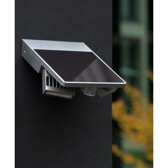 Lutec TILLY Applique per esterno LED Argento, 1-Luce, Sensori di movimento