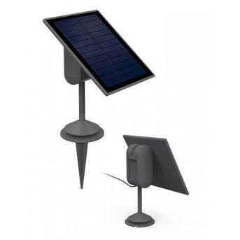 Lutec sun connec Solar SPARTA Pannello solare LED Grigio, Sensori di movimento