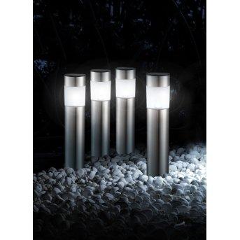 Globo CHUNGI Set di 4 lampade solari LED Acciaio inox, 1-Luce