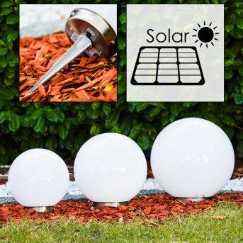 Solar Lampada a sfera LED Acciaio inox, 2-Luci