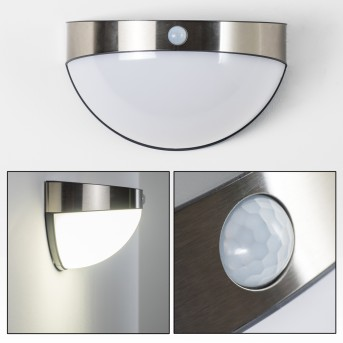 Pori Applique da esterno LED Cromo, 1-Luce, Sensori di movimento