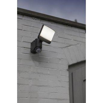 Lutec Sunshine Applique da esterno LED Antracite, 1-Luce, Sensori di movimento