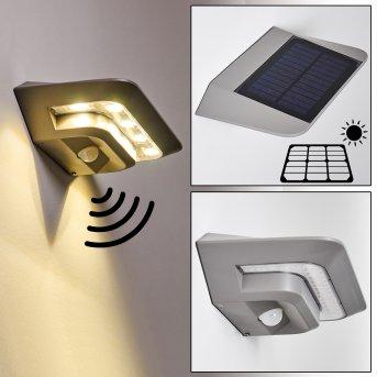 Lampada solare Camden LED Grigio, 1-Luce, Sensori di movimento