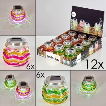 Raven Set di lampade solari 12 pezzi LED Giallo, Verde, Arancione, 1-Luce