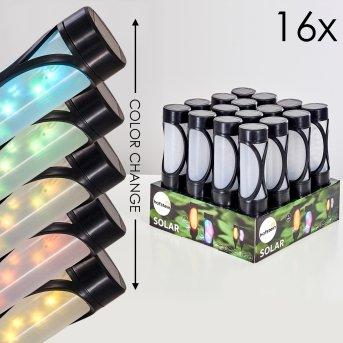 Set di lampade solari da giardino Lakeland LED Nero, 1-Luce