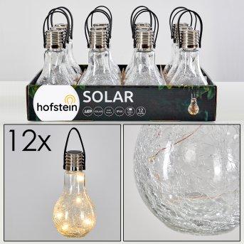 Set di lampade solari da giardino Tian LED Argento, 1-Luce