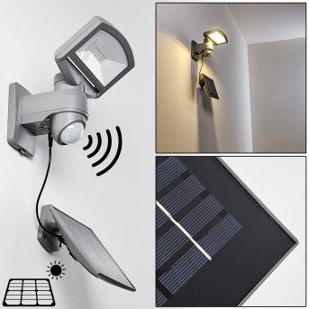 Applique da esterno Larvik LED Grigio, 1-Luce, Sensori di movimento