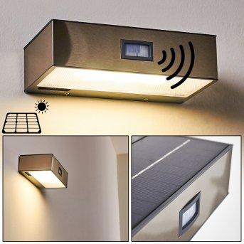 Applique da esterno Attu LED Nichel opaco, 1-Luce, Sensori di movimento