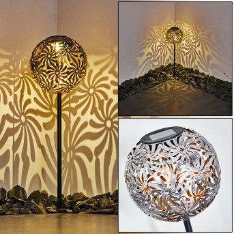 Gilbert Lampada solare LED Argento, 1-Luce