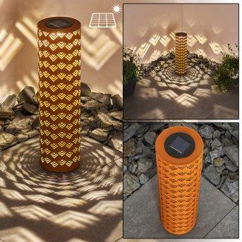 Parikia Lampada solare LED Ruggine, 1-Luce