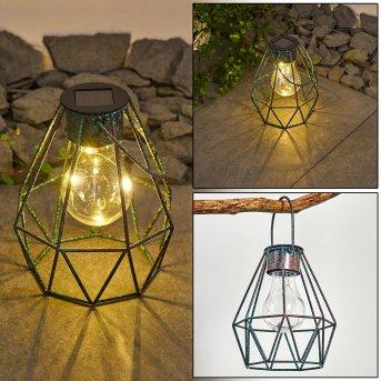 Andalo Lampada solare LED Verde, Ruggine, 1-Luce
