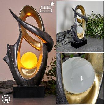 Benevento Lampada solare LED Argento, Oro, 1-Luce