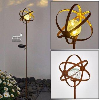 Yonkers Lampada solare LED Ruggine, 1-Luce