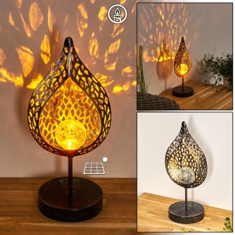 Protaras Lampada solare LED Nero-Oro, 1-Luce