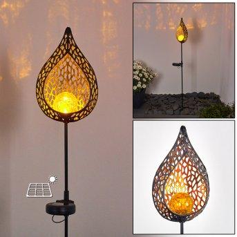 Protaras Lampada solare LED Nero, Ramato, 1-Luce