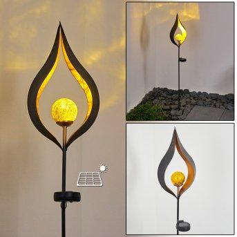 Rovinj Lampada solare LED Nero, Ramato, 1-Luce