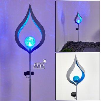 Rovinj Lampada solare LED Argento, 1-Luce