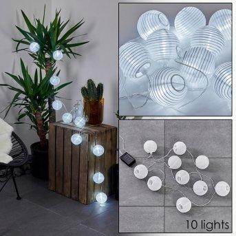 Redding Catena luminosa solare LED Bianco, 10-Luci