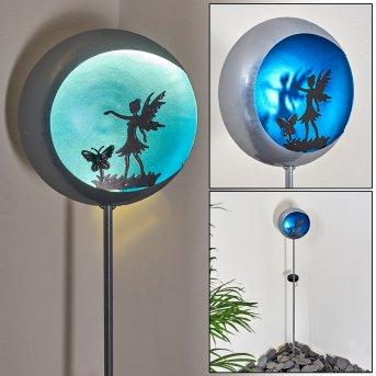 Loano Lampada solare LED Blu, Argento, 1-Luce
