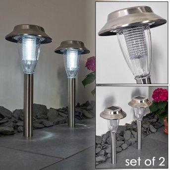Rovigo Lampada solare LED Nichel opaco, 1-Luce