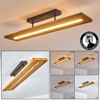 Adak Plafoniera LED Grigio, 1-Luce