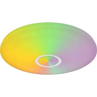 Globo CLARKE Plafoniera LED Bianco, 1-Luce, Telecomando, Cambia colore