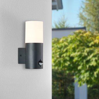 Brillliant Aberdeen Applique da esterno Nero, 1-Luce, Sensori di movimento