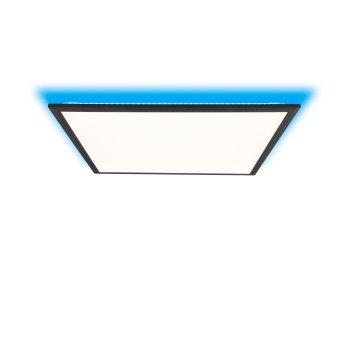 Brilliant Allie Plafoniera LED Nero, 1-Luce, Telecomando