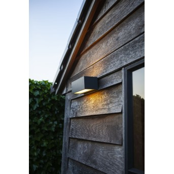 Lutec GEMINI Applique da esterno LED Antracite, 2-Luci, Cambia colore
