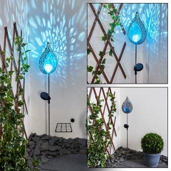Rovinj Lampada solare LED Blu, Argento, 1-Luce
