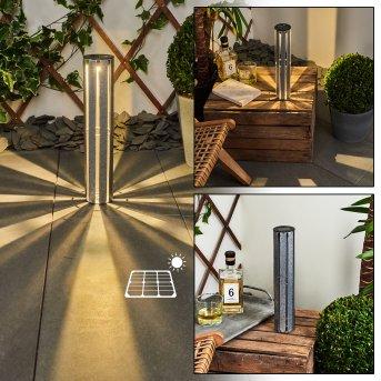 Hankinson Lampada solare LED Argento, 1-Luce