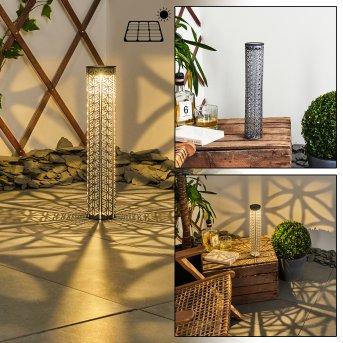 Hankinson Lampada solare LED Nero, Grigio, Argento, 1-Luce
