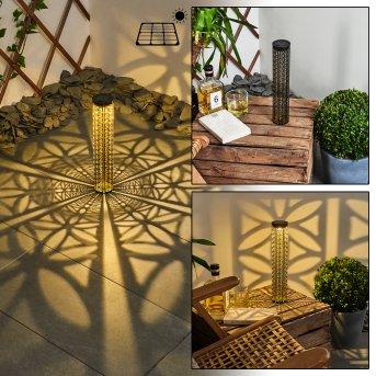 Hankinson Lampada solare LED Nero, Oro, 1-Luce