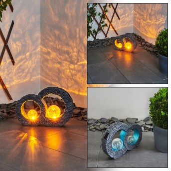 Siviri Lampada solare LED Blu, Grigio, Trasparente, chiaro, 1-Luce