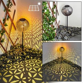 Samoao Lampada solare LED Nero, Argento, Ramato, 1-Luce