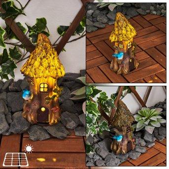Katiao Lampada solare LED Blu, Marrone, Arancione, 1-Luce