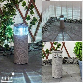 Mesabolo Lampada solare LED Nero, Grigio, 1-Luce