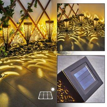 Staranzano Lampada solare LED Giallo, Nero, 1-Luce