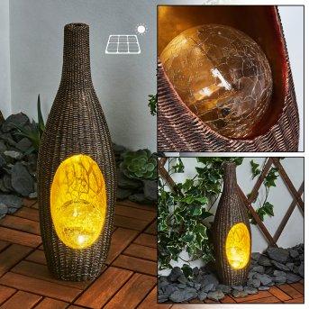 Otterstad Lampada solare LED Marrone, Oro, 1-Luce