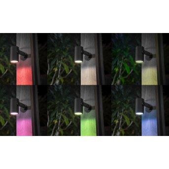 Philips Hue Ambiance White & Color WACA Lily Spot, set da 3 di base LED Nero, 1-Luce, Cambia colore