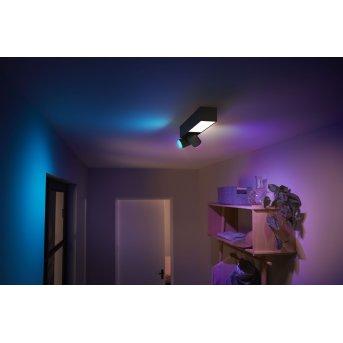 Philips HUE Centris Plafoniera LED Nero, 3-Luci, Cambia colore