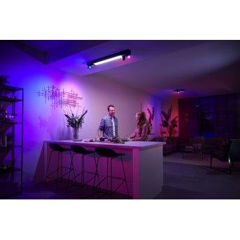 Philips HUE Centris Plafoniera LED Nero, 1-Luce, Cambia colore