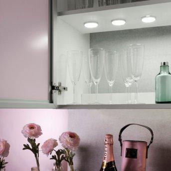 Leuchten Direkt THEO Illuminazione sottopensile LED Argento, 3-Luci