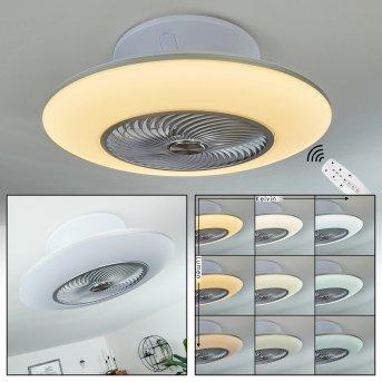 Chaville ventilatore da soffitto LED Bianco, 1-Luce, Telecomando