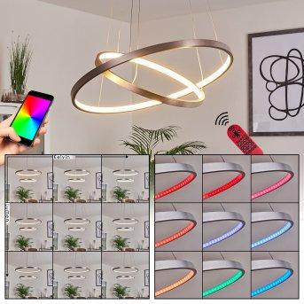 Canisteo Lampada a Sospensione LED Argento, 2-Luci, Telecomando, Cambia colore