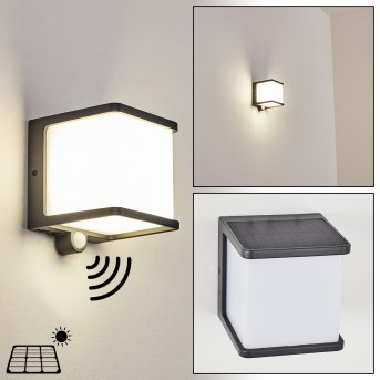 Burseryd Lampade solari LED Nero, 1-Luce, Sensori di movimento
