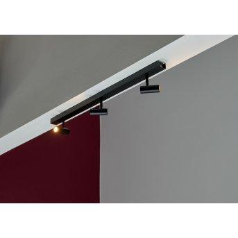 Nordlux OMARI Plafoniera LED Nero, 3-Luci